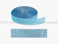 Декоративна бордюрна стрічка з камінчиками — 25033C Блакитна Modecor - L10m x H4cm