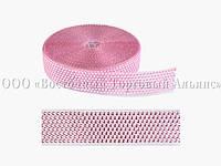 Декоративна бордюрна стрічка з камінчиками — 25033B Рожева Modecor - L10m x H4cm