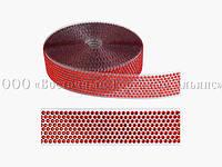 Декоративна бордюрна стрічка з камінчиками — 25033D Червона Modecor - L10m x H4cm