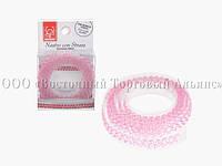 Декоративна бордюрна стрічка з камінчиками — 25027B Рожева Modecor - L90xH1,5 см