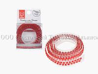 Декоративна бордюрна стрічка з камінчиками — 25027D Червона Modecor - L90xH1,5 см