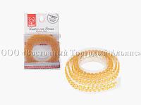 Декоративна бордюрна стрічка з камінчиками — 25027E Жовта Modecor - L90xH1,5 см