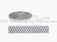 Декоративна бордюрна стрічка з камінчиками — 25028H Срібна Modecor - L20м х Н2см