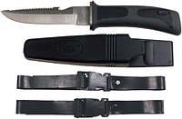 Нож для дайвинга чёрный Fox Outdoor 45401