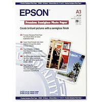Фотобумага Epson Premium Semigloss Photo Paper Полуглянцевая, 260г/м кв, A3, 20л (C13S041334)