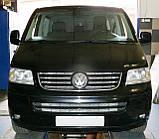 Декоративно-защитная сетка радиатора Volkswagen Transporter T5 фальшрадиаторная решетка, бампер, фото 9