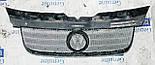 Декоративно-защитная сетка радиатора Volkswagen Transporter T5 фальшрадиаторная решетка, бампер, фото 3