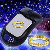 Ювелирные весы до 300 грамм (0,01) в виде компьютерной мышки
