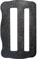 Пряжка стальная двухщелевая 47мм фигурная Krok 06411