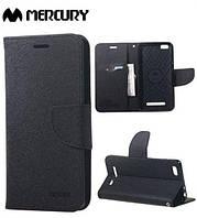 Чехол (книжка) Mercury Fancy Diary series для Xiaomi Mi 4i / Mi 4c            Черный / Черный