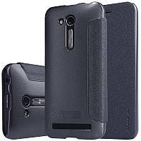 Кожаный чехол (книжка) Nillkin Sparkle Series для Asus Zenfone Go (ZB452KG)            Черный