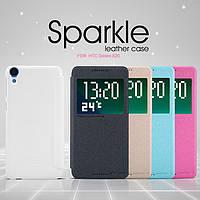 Кожаный чехол (книжка) Nillkin Sparkle Series для HTC Desire 820             Черный