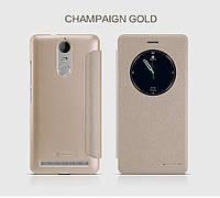 Кожаный чехол (книжка) Nillkin Sparkle Series для Lenovo K5 Note / K5 Note Pro            Золотой