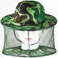 Сетка от комаров на голову с кольцами
