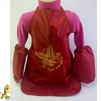 Фартук для творчества девочке красный с бабочками Sweet Buterflies