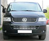 Декоративно-защитная сетка радиатора Volkswagen Transporter T5 фальшрадиаторная решетка, бампер, фото 10
