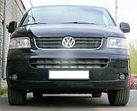 Декоративно-защитная сетка радиатора Volkswagen Transporter T5 фальшрадиаторная решетка, бампер