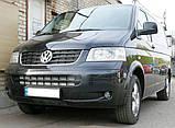 Декоративно-защитная сетка радиатора Volkswagen Transporter T5 фальшрадиаторная решетка, бампер, фото 5