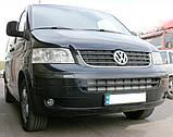 Декоративно-защитная сетка радиатора Volkswagen Transporter T5 фальшрадиаторная решетка, бампер, фото 6