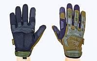 Перчатки тактические с закрытыми пальцами MECHANIX (р-р M-XL, оливковый)