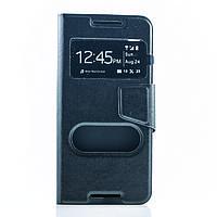 Чехол (книжка) с TPU креплением для HTC Desire 626            Черный
