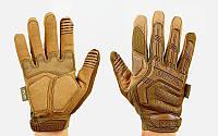 Перчатки тактические с закрытыми пальцами MECHANIX MPACT (р-р M-XL, камуфляж multicam)