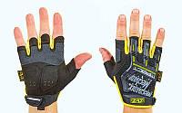 Перчатки тактические с открытыми пальцами MECHANIX (р-р M-XL, черный-желтый)