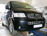 Декоративно-защитная сетка радиатора Volkswagen Transporter T5 фальшрадиаторная решетка, бампер, фото 7