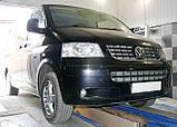 Декоративно-защитная сетка радиатора Volkswagen Transporter T5 фальшрадиаторная решетка, бампер, фото 8