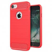 """Ударопрочный матовый чехол c защитой от перегрева для Apple iPhone 6/6s (4.7"""") Красный"""