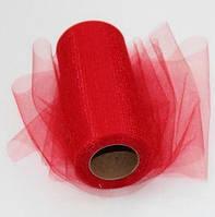 Декоративная сетка (фатин) Glimmer Red красная