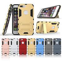 Ударопрочный чехол-подставка Transformer iPhone 7 plus с защитой корпуса Металл / Gun Metal