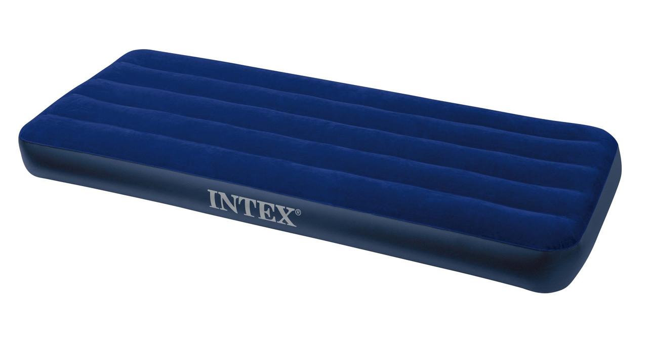 Матрас велюровый Intex 193*76*22 см, плавательный матрас, надувной матрас
