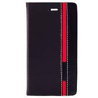 Чехол (книжка) с TPU креплением Stripe series для Doogee X5 / X5 Pro            Черный