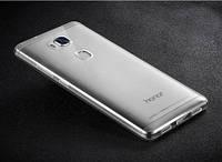 Тонкий прозрачный силиконовый чехол Msvii Huawei Honor 5X / GR5 с заглушкой +стекло Серый