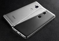Тонкий силиконовый чехол Msvii Huawei Honor 5X / GR5 с заглушкой +стекло Бесцветный