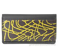 Кошелек ZIZ Вдохновение 42016 графитово-желтый