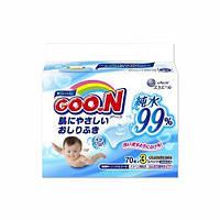 Детские влажные салфетки для чувствительной кожи (3 мягких сменных блока по 70 шт.) ТМ Goo.N 733562