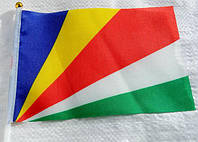 Флажок Сейшельских Островов 13x20см на пластиковом флагштоке