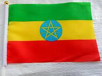 Флажок Эфиопии 13x20см на пластиковом флагштоке