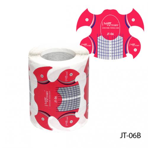 """Форма JT-06B одноразовая универсальная, бумажная на клейкой основе, идеальный """"С-изгиб"""" (150 шт)"""