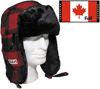 Шапка с мехом красно-чёрная (XL) Fox Outdoor 10033I