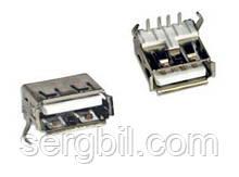 AF90 USB-А гніздо на плату кутове
