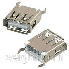AF180 USB-A гніздо на плату пряме