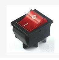 KCD4 Выключатель быт.техн. клавишный 4конт., с красн. подсв. (15А, 250VAC)