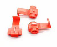 Ответвитель для провода обжимной, изолированный, красный AWG22-18,  0,5-1,0кв.мм