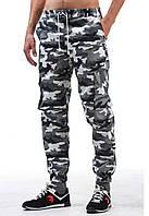 Мужские штаны карго Ястребь Камо Вайткамо, зауженные с карманами камуфляжные (брюки-карго, Cargo)
