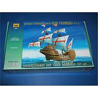 Корабль конкистадоров Сан Габриэль XVI в. + сертификат на 50 грн в подарок (код 200-108243)