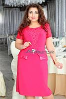 Платье Баска микро масло+гипюр размеры 56