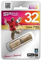 Usb флеш silicon power lux mini 720 32gb bronze (sp032gbuf2720v1z)